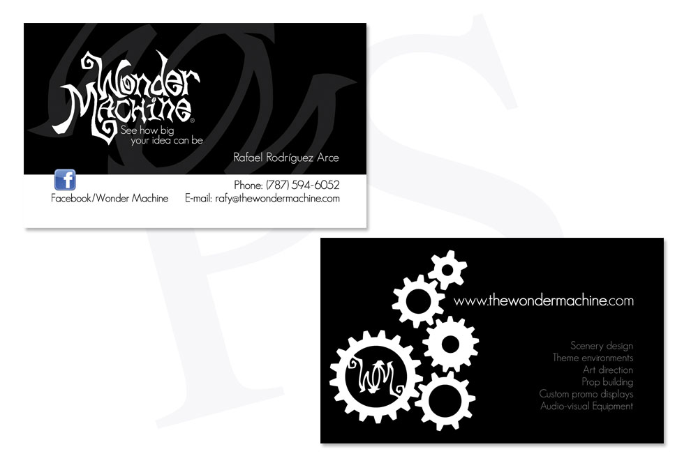 The Wonder Machine - Business Cards